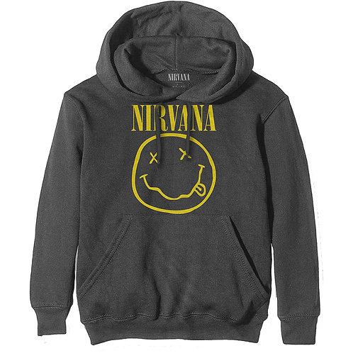 Nirvana Unisex Pullover Hoodie: Yellow Smiley