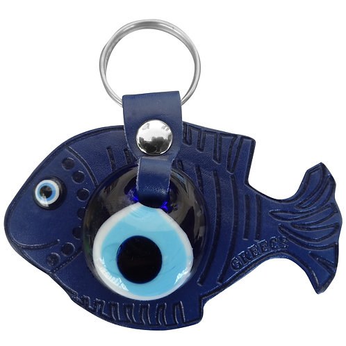 Fish Dark Blue Keychain