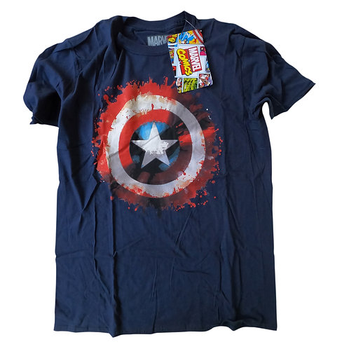 Marvel Comics Unisex Tee: Captain America Splat Shield