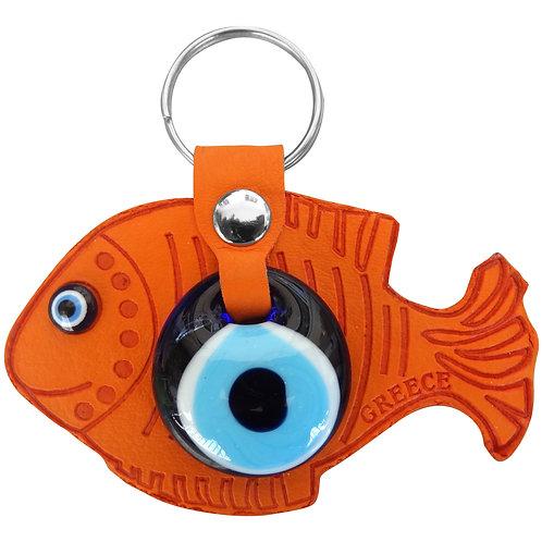 Fish Orange Keychain