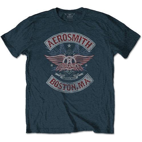 Aerosmith Unisex Tee: Boston Pride