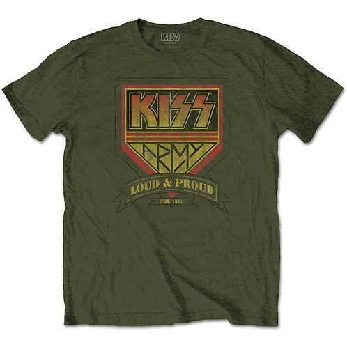 Kiss Unisex Tee: Loud & Proud