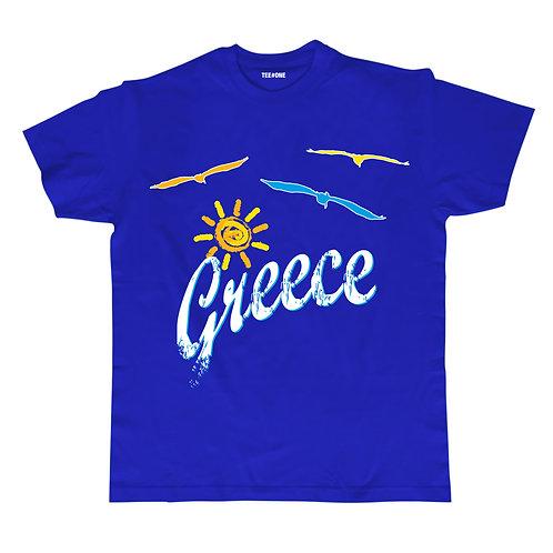 Greece Sun & Birds Unisex Tee