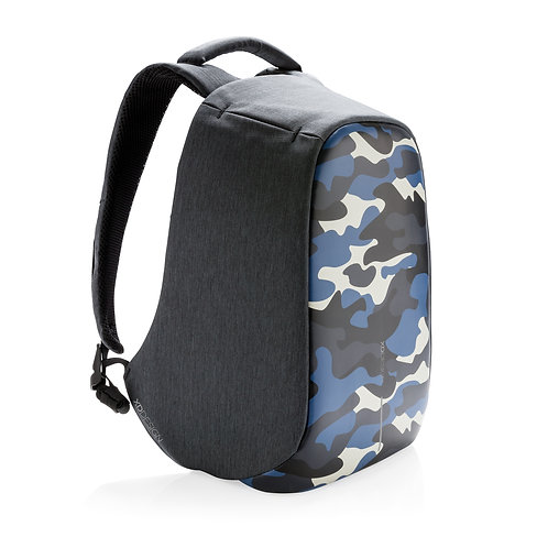 Bobby Compact Print Camouflage Blue
