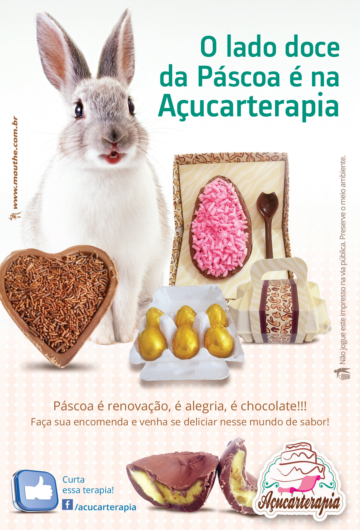 Folheto Páscoa Açucarterapia
