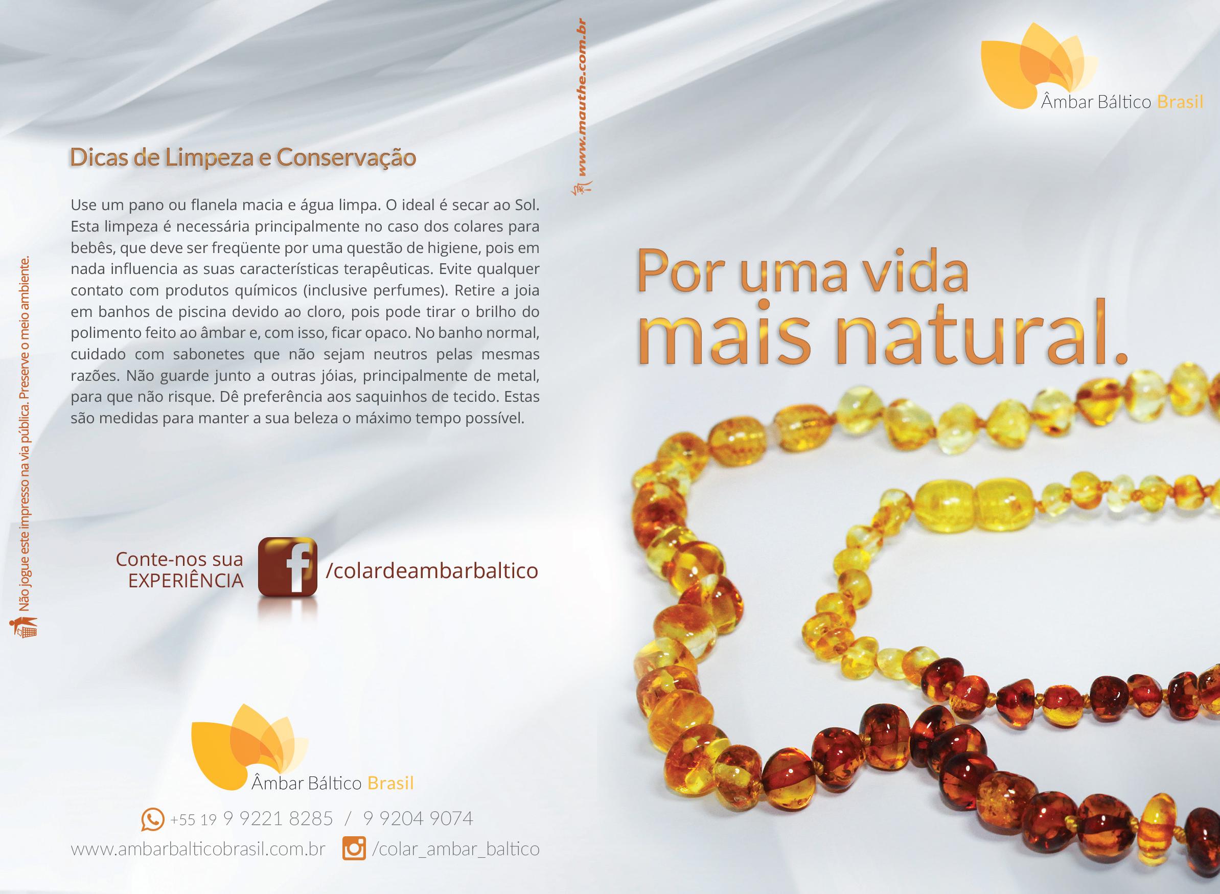 Folder Âmbar Báltico Brasil
