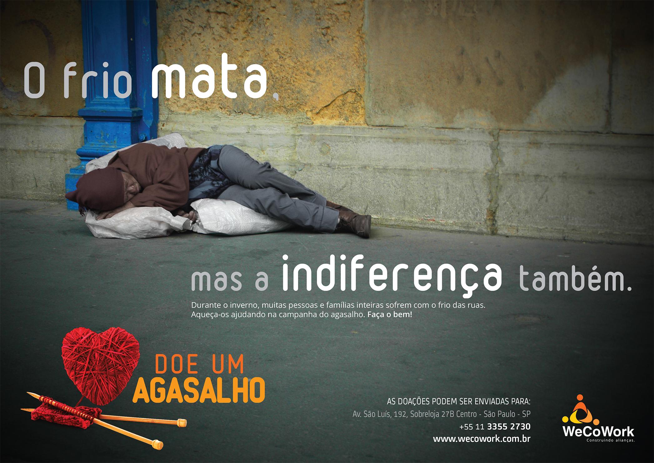 Cartaz WeCoWork Campanha do Agasalho