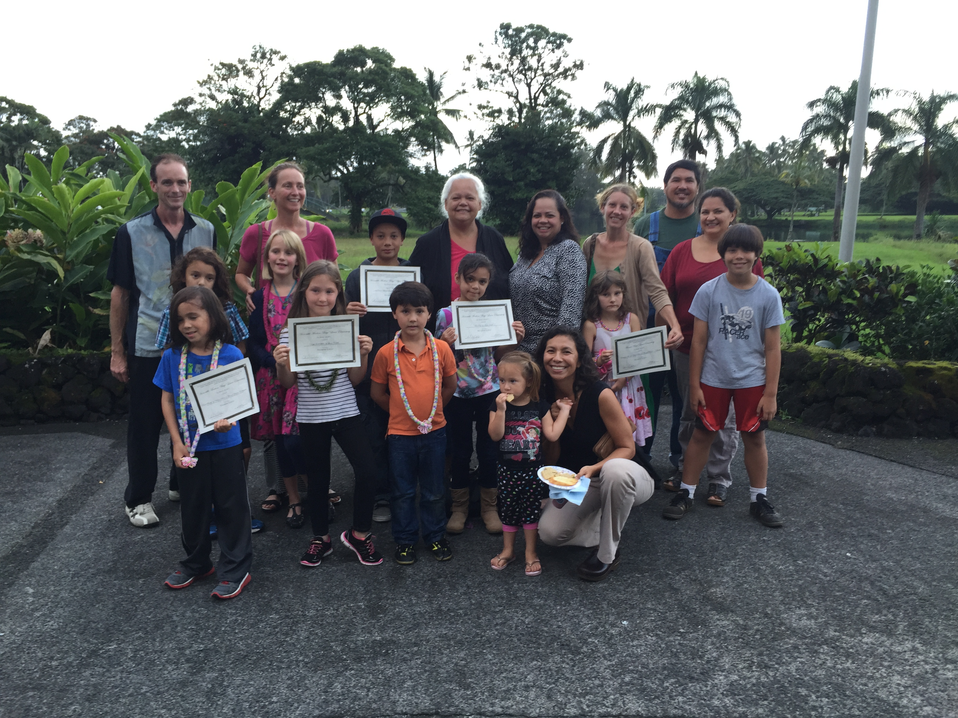 Hawaii Nei Winners with Families