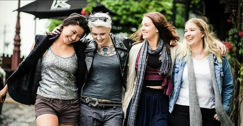 The cast of new Melbourne lesbian web series Back To Goode.