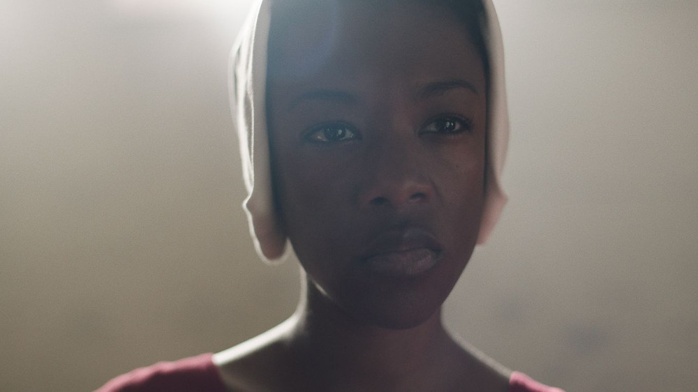 Samira Wiley stars in The Handmaid's Tale, Margaret Atwood's best seller that Trump's America has made relevant again.