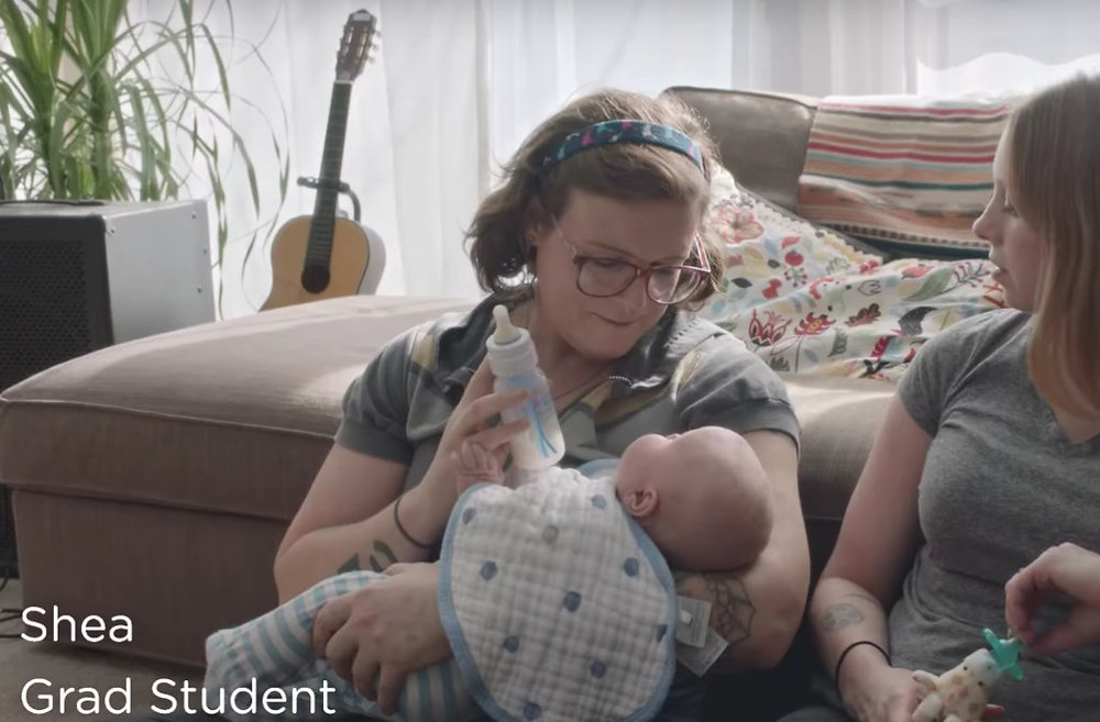 Dove #RealMoms ad features a transgender woman and her female partner.