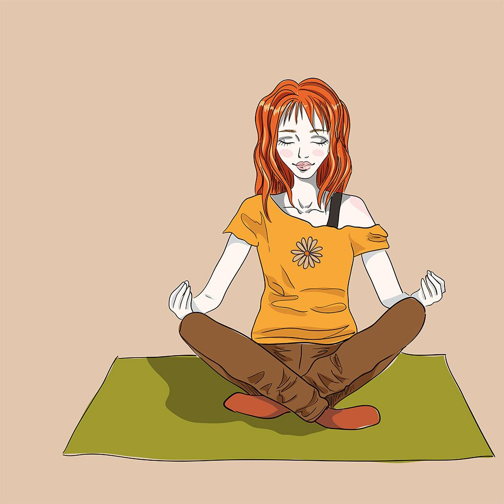 Lesbian blogger Accidentally Alex meditating