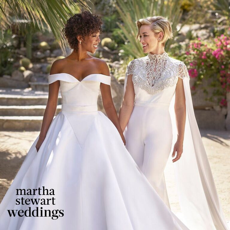 OITNB's Samira Wiley & her wife lauren Morelli on their wedding day.