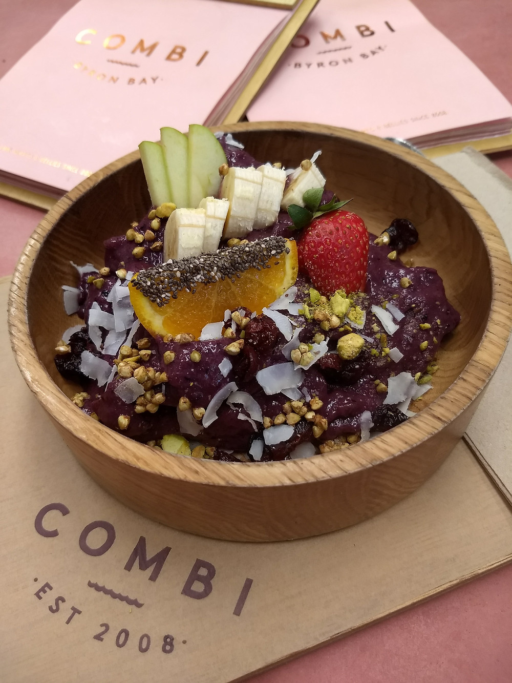 Acai bowl at Combi Byron Bay.