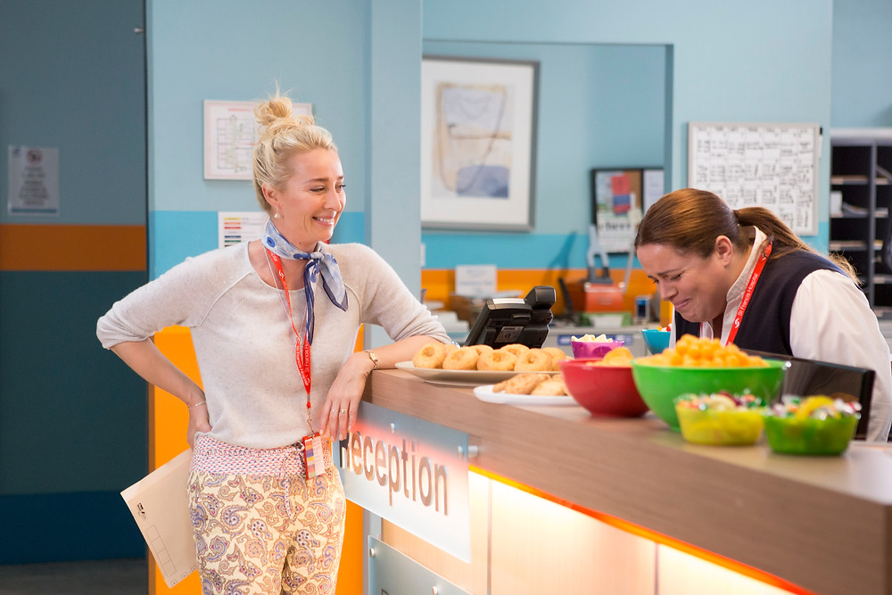 Asher Keddie and Alicia Gardner who plays lesbian character Nurse Kim