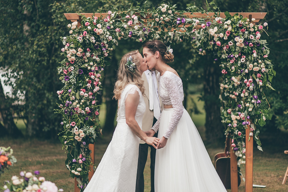 Real-life lesbian weddings feature in Dancing With Her, the world's first lesbian wedding magazine, out now.
