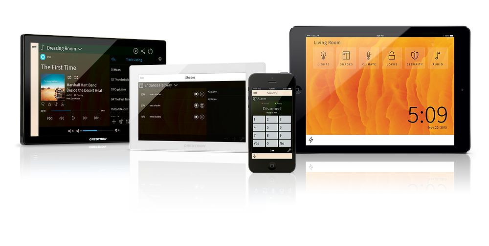 Control your smart home system from any phone, tablet, or touchscreen; home or away.