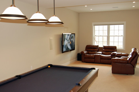 Media Room with Surround Sound and Flat Screen TV