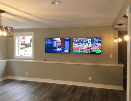 Side by side Flatscreen TVs