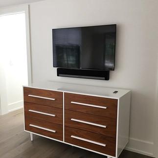 Flat Screen TV and Sonos Soundbar