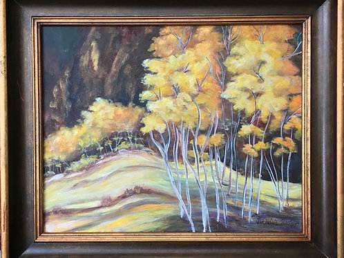 Gold Trees 21x25 with frame