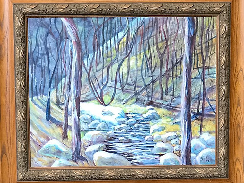 Winter Forest 22x26 with frame
