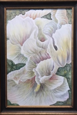 White Flower 29x41 with frame