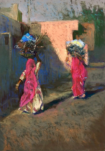 Two Women in Pink