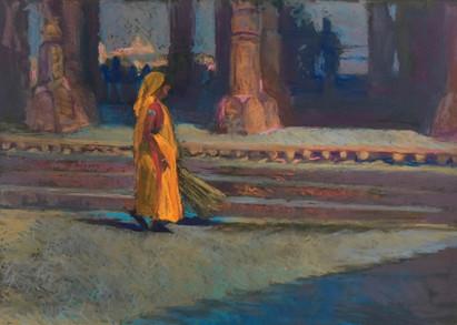 Woman in Saffron