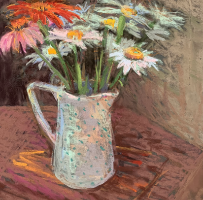 Coneflowers and Dotted Pitcher