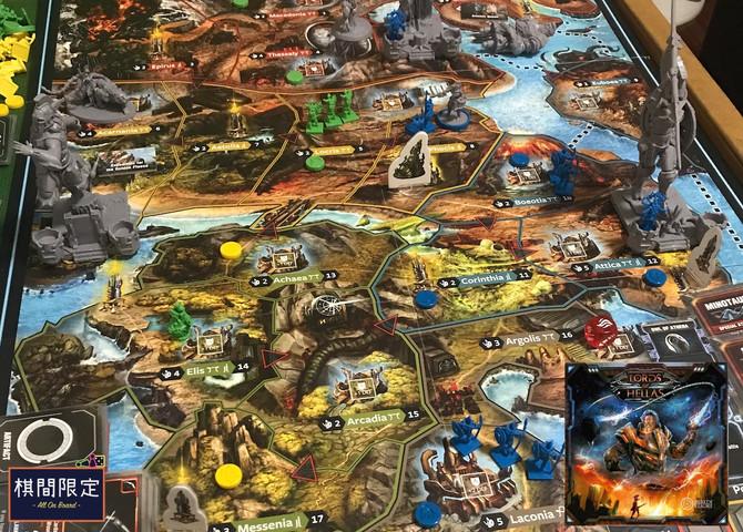 [桌遊介紹] 機械與希臘神話crossover戰爭遊戲 - Lords of Hellas