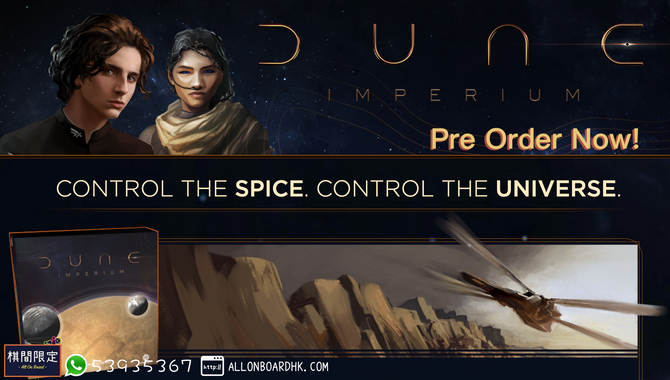 [Boardgame Preorder] Dune: Imperium Pre Order Open Now!