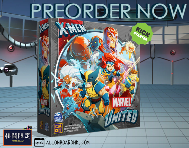 [KS Games Preorder] Marvel United:X-Men by CMON is now accept for preorder