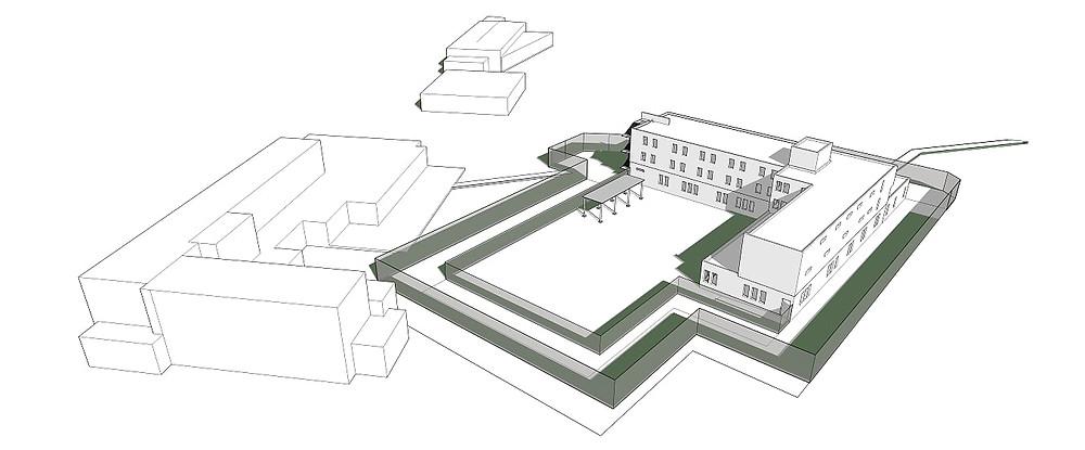 Rehabilitation et extension du SAS de Seysses-DISP Toulouse. MINISTERE DE LA JUSTICE-FRANCE