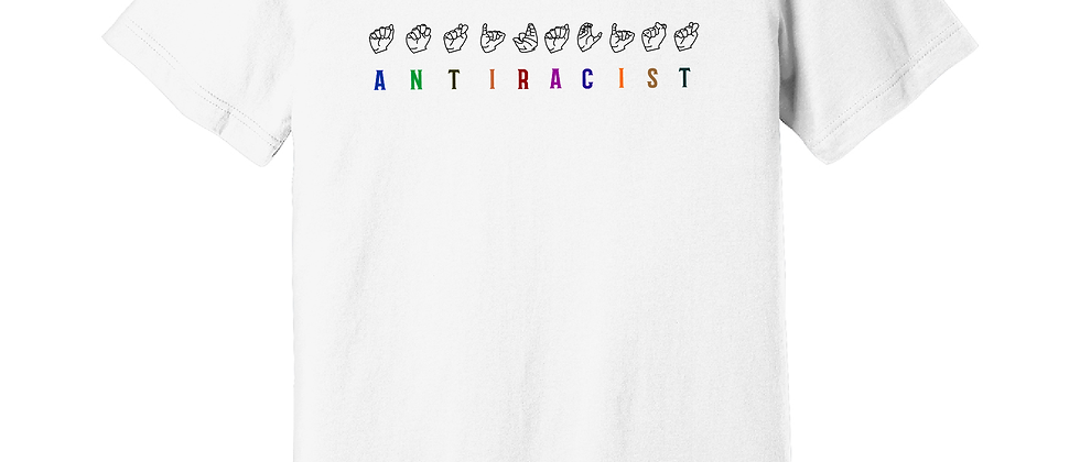 Multicolored Texts Antiracist FS (Genderless)