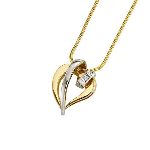 Kærligt hjertesmykke i 14 kt guld