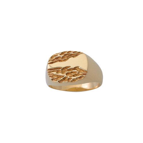 Håndlavet fingerring i 14 kt guld