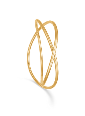 Elegant massiv armring i 14 kt guld