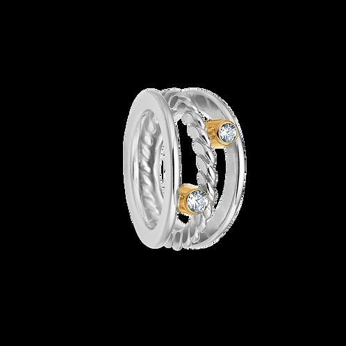 Zirconia ring m/guldfatning