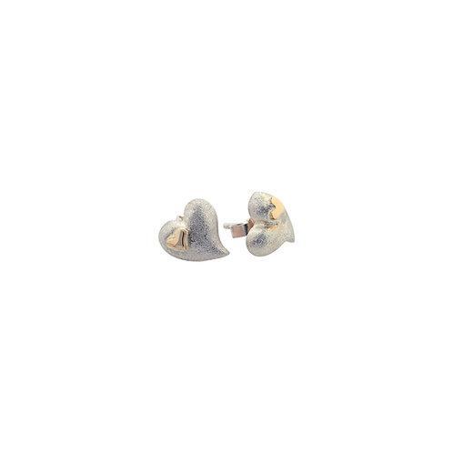 Øreringe med 14 kt guldhjerter