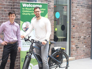 Pool electric bike trial at CMFT Charity