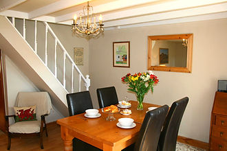 Dining area of Nant Melyn Cottage