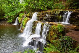 Waterfall coutry in the Brecon Beacons,