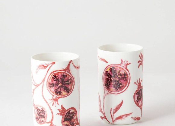 Pomegranate Tumbler Cup Set x 2