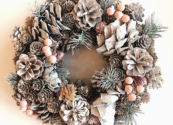 Christmas Wreath Pink