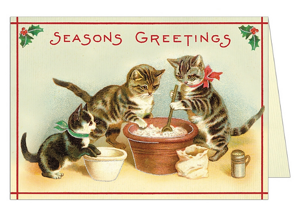 Christmas Cats Greeting Card