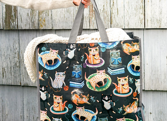 Cat Plant Shopper Bag