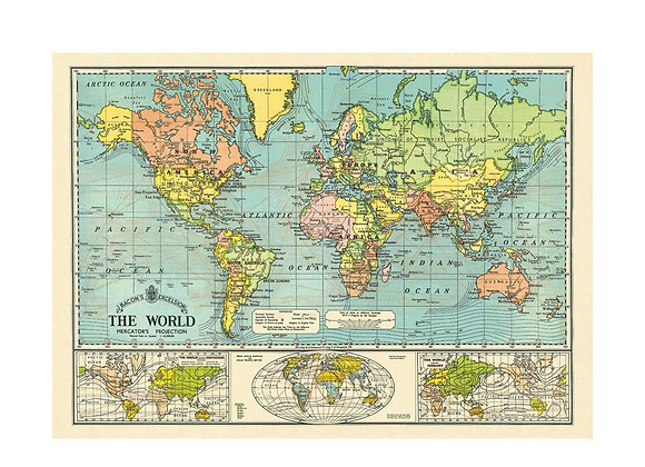 WORLD MAP Wrap/Poster