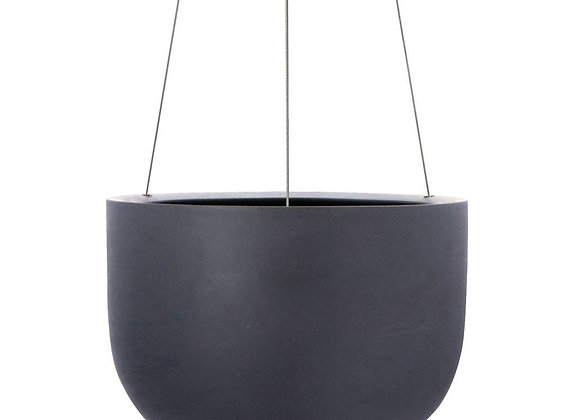 Raw Charcoal Hanging Planter
