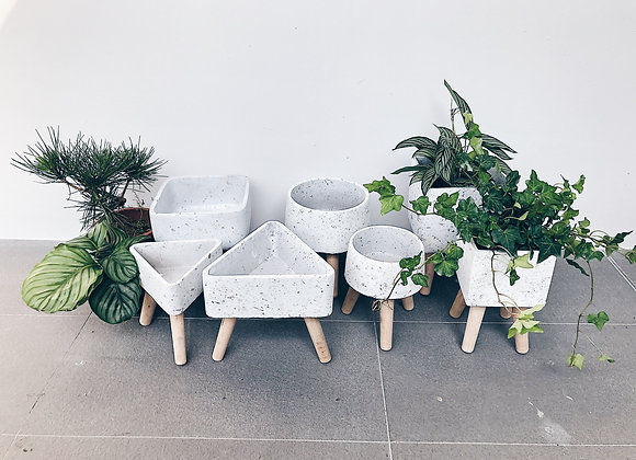 Marble Style Planter leg stands